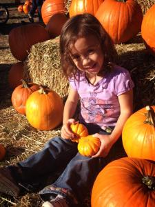 Fall 2014 at the pumpkin patch.