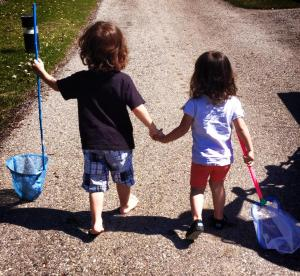 Olivier & Rosalie on a walk