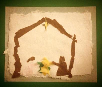 A manger scene, by my oldest son Mateo (age 9)