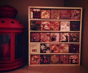 Advent Calendar: each little box has a scripture and activity for the kids inside.